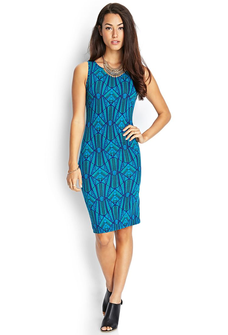 Tribal Print Midi Dress | FOREVER21 #F21Contemporary | My Style ...