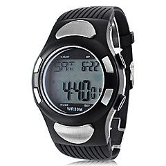 Men's Heart Rate Monitor Style Rubber Digital Automatic Wrist Watch with Electro Luminescent (Black). Grab substantial discounts up to 50% Off at Light in the Box using Coupons & Promo Codes