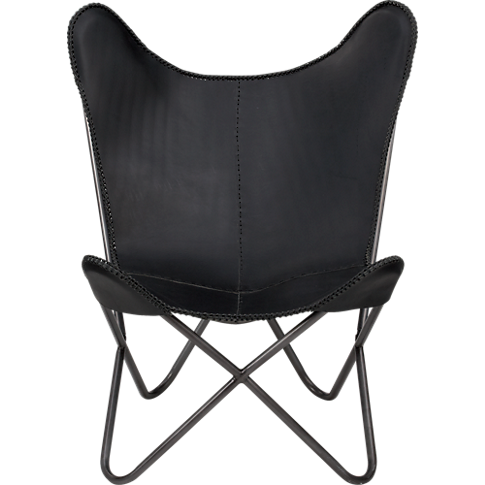 1938 black leather butterfly chair in CB2 buyer favorites | CB2