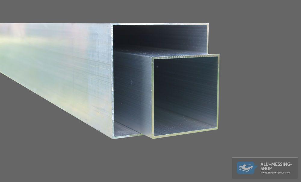 Aluminium Vierkantrohr Alu Quadrat-Rohr Hohlpofil Aluprofil Square Tube