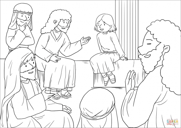 41++ 12 year old jesus in the temple coloring page free download