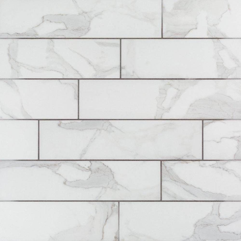 Dimarmi Bianco Stone Look Porcelain Tile 6 X 24 100434638