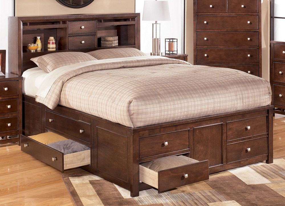 Storage Headboard Bed With Drawers Underneath King Size Storage