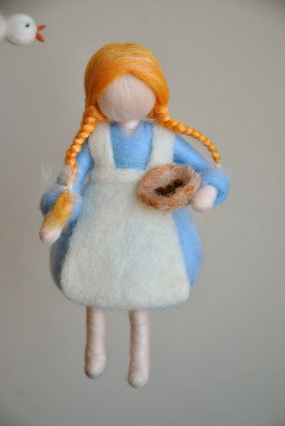 This is a Waldorf inspired piece made of wool by the needle-felting technique. Its been created to provide a peaceful and harmonious image that communicates with the soul through its colors, textures, forms and energy. Dimensions: 20 in height Doll: 8 in SHIPPING: Since shop-home is located in Montréal, contact the shop owner for more accurate delivery-time and shipping-costs. Note: it is not a toy.