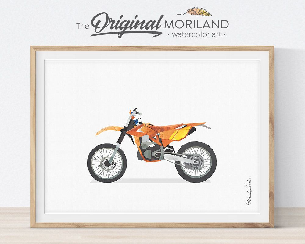 Dirt Bike Print Dirt Bike Decor Motorcycle Wall Art Etsy Motorcycle Wall Art Etsy Wall Art Toddler Wall Art
