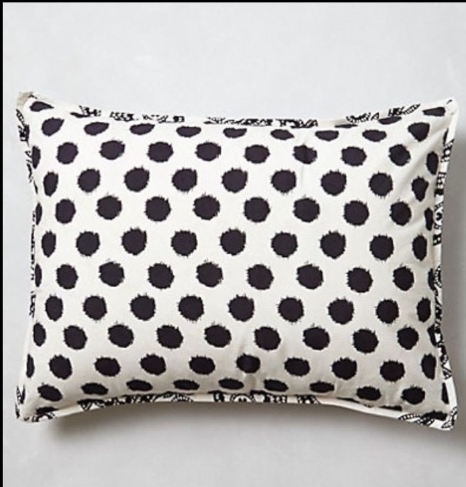 "Anthropologie MONOCHROME BLOOM Pair Standard Shams 20""x 26""Black White Sold Out #Anthropologie"