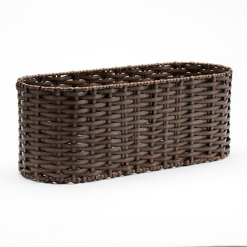 Sonoma Goods For Life Bath Woven Wicker Tank Topper Basket Wicker Woven Baskets Storage Basket