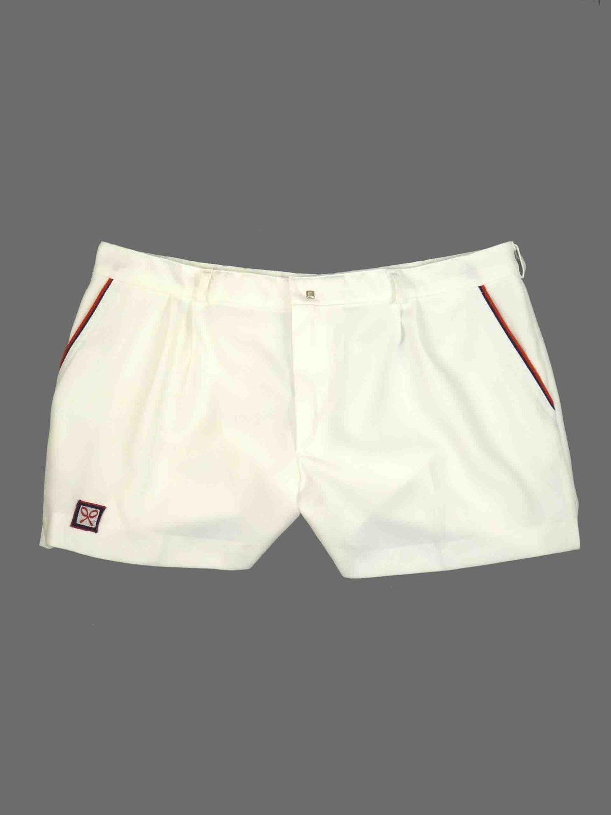 Mens Vintage 70 S 80 S White Tennis Sports Squash Wimbledon Short Shorts 38 Ebay Mens White Shorts Vintage Men White Shorts