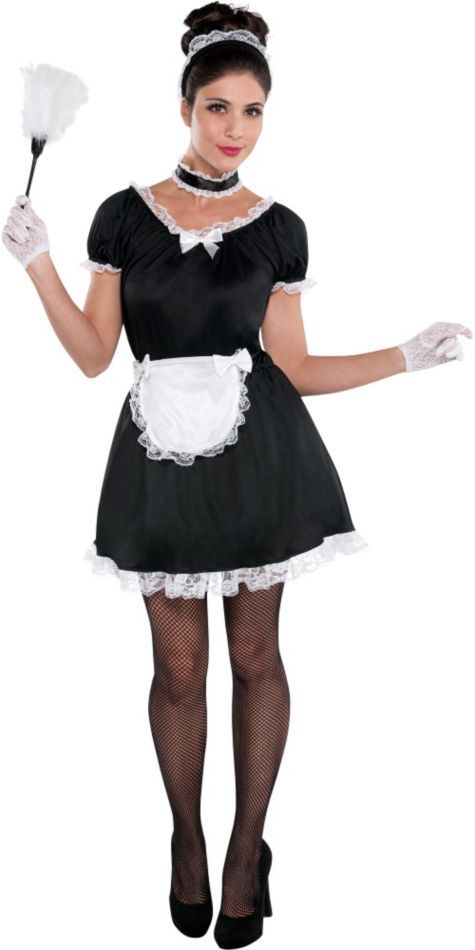 1f1ba32bfd3 Adult French Maid Costume - Party City I like the hair for Abby's ...