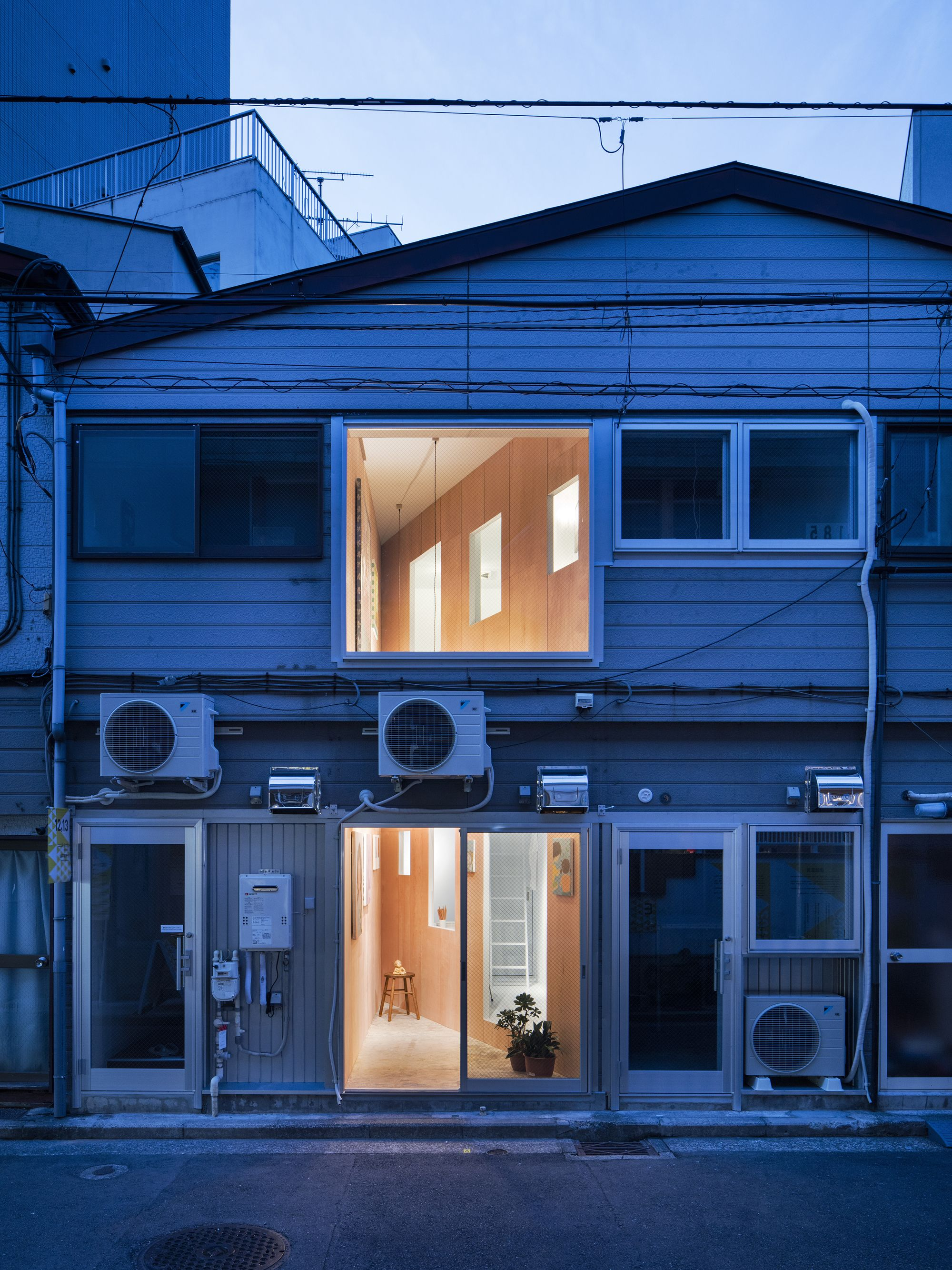 """Completed in 2016 in Japan. Images by Kenta Hasegawa. . This project involved redesigning the former illegal sex shop (common name is """"Chonnoma"""") to the artist in residence as part of """"Koganecho Bazaar..."""