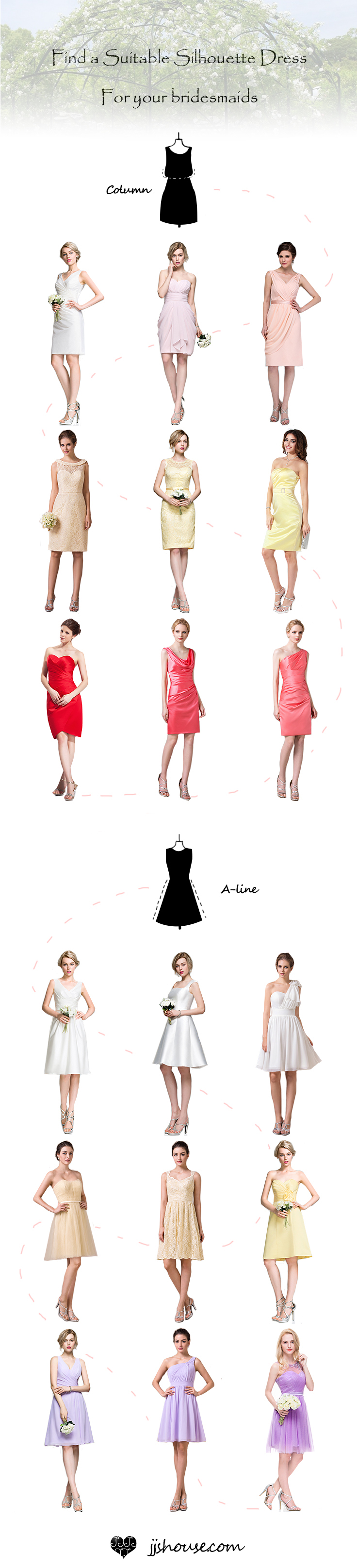 Find a Suitable Silhouette Dress For your Bridesmaids! Charming #bridesmaiddress