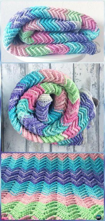 Crochet Textured Chevron Blanket Free Pattern - Crochet Rainbow ...
