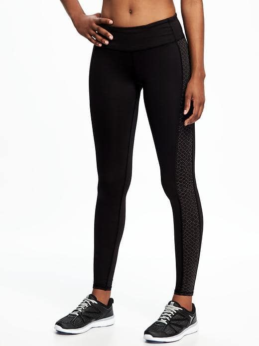 05a7853fd7150 Go-Dry Cool Fitted Running Tights for Women M-Tall Black Jack Print