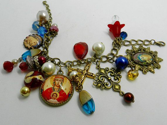 Orthodox Icon Bracelet Religious Jewelry Theotokos Bracelet Virgin