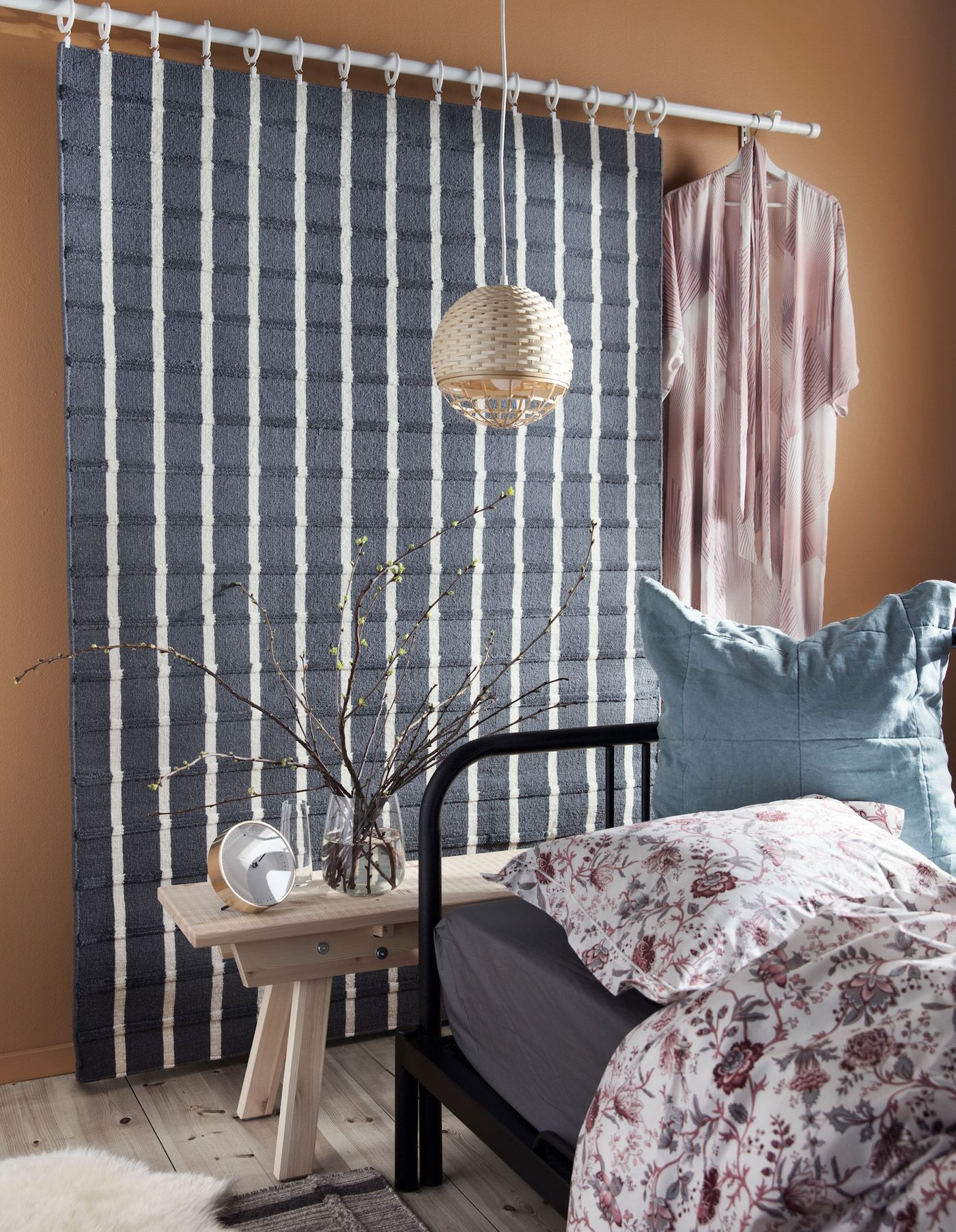reduce noise in your bedroom  day bed frame ikea rug
