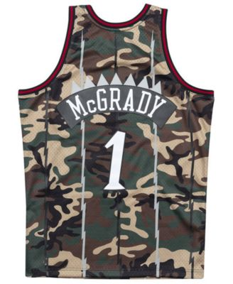 d6b9a045f4c1 Mitchell   Ness Men s Tracy McGrady Toronto Raptors Woodland Camo Swingman  Jersey ...