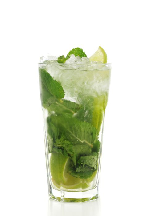 mint and lemon in water