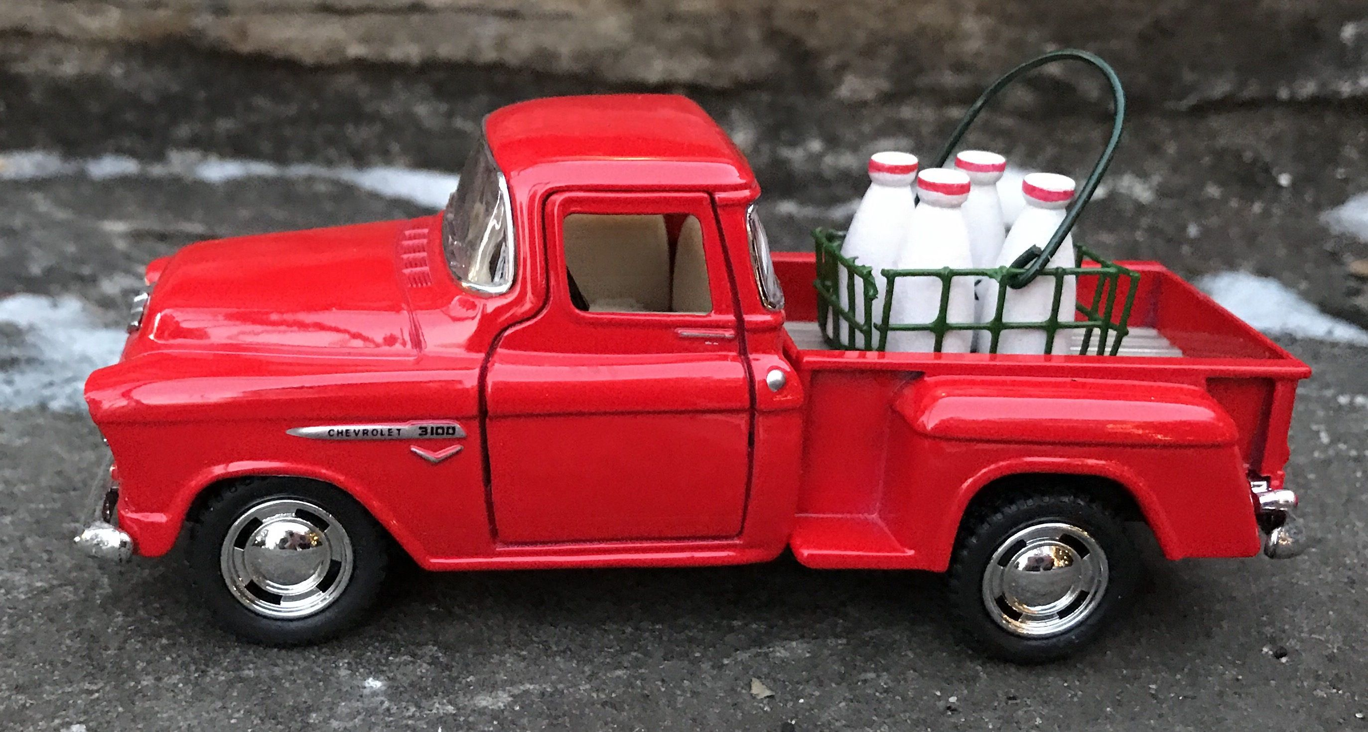 Diecast Vintage Pickup Truck Little Red Truck Decor Farmhouse