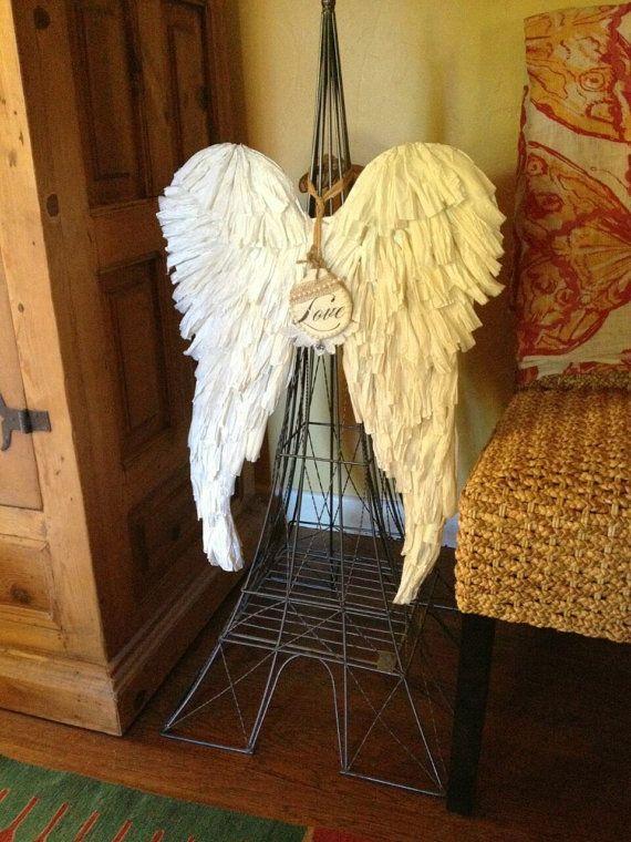 OOAK Handcrafted Angel Wings Wall Art Sculpture Christmas Custom ...