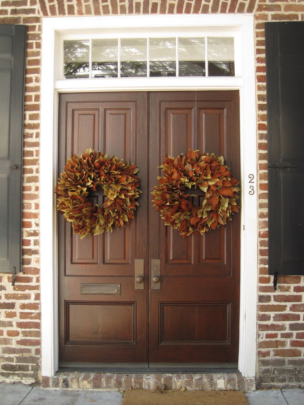 Double Front Door Georgian Double Front Door Ideas For