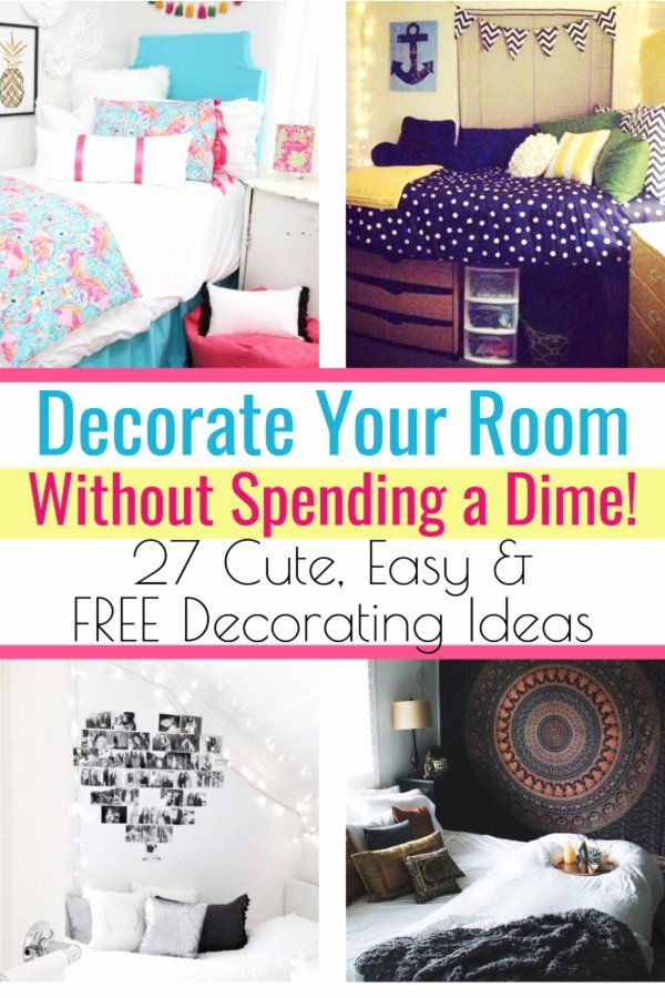 Ways To Decorate Your Bedroom In 2020 Decorate Your Room Simple Room Decoration Girl Bedroom Decor