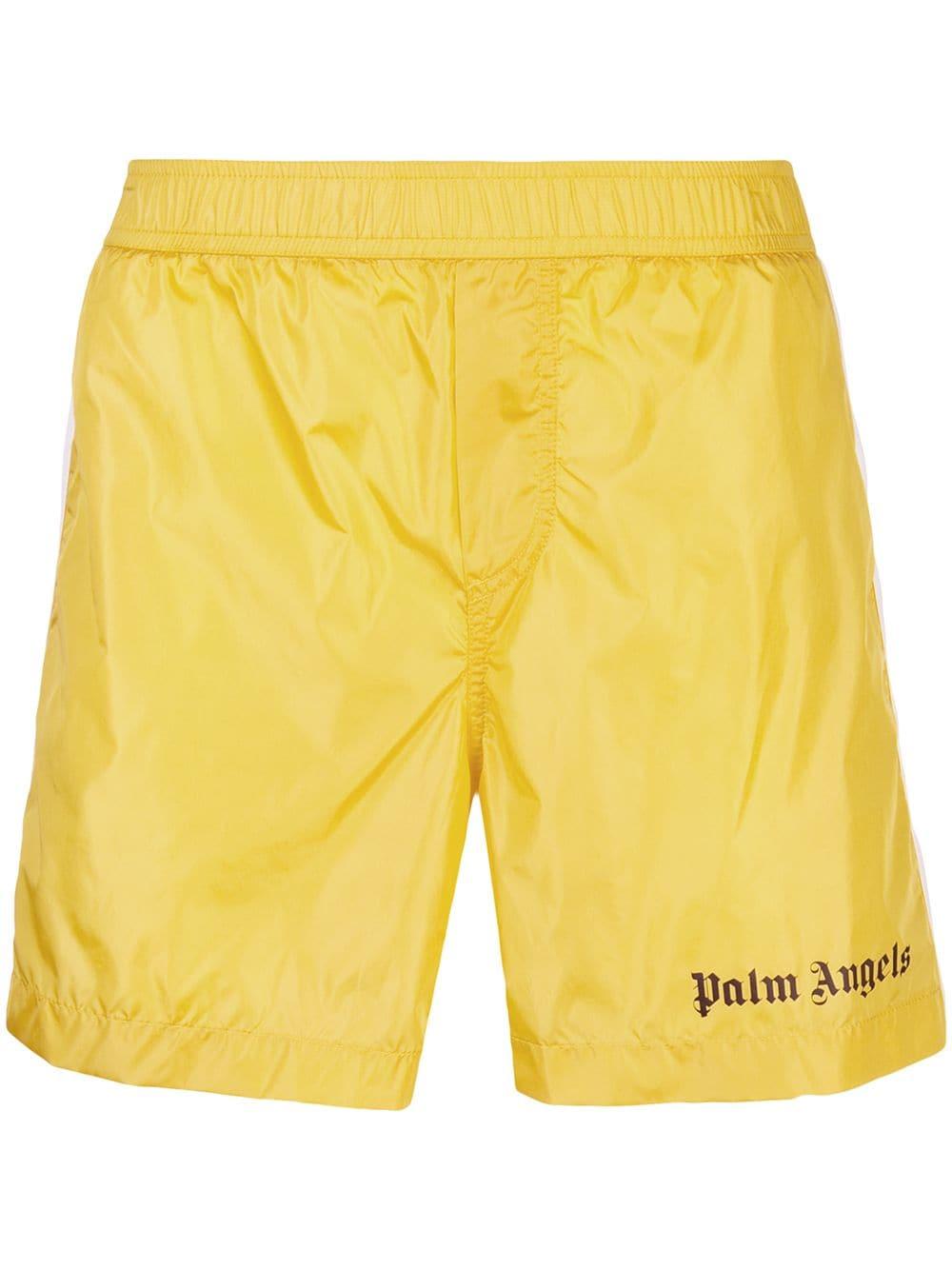 a18ba7142b PALM ANGELS PALM ANGELS TRACK BOARD SHORTS - YELLOW. #palmangels #cloth