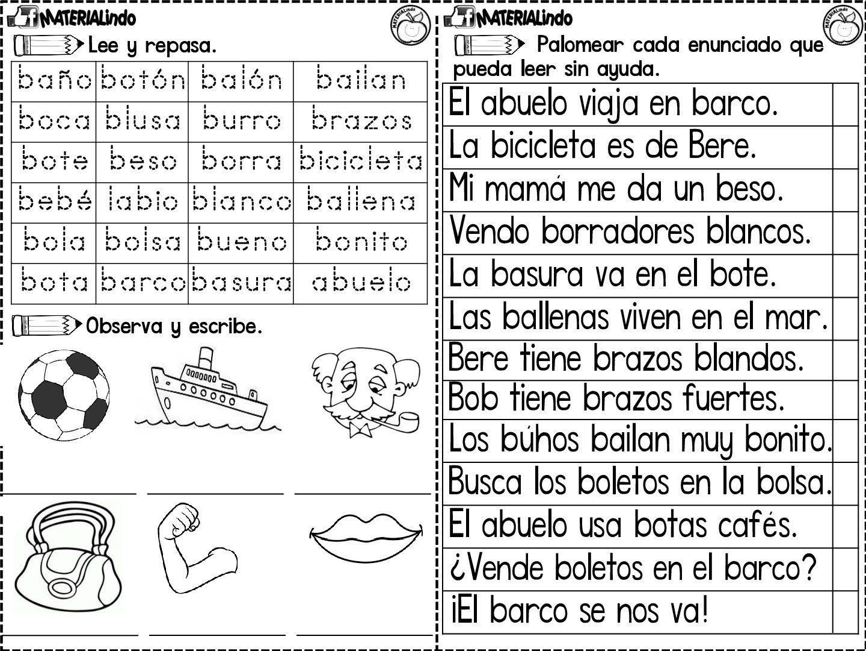 Leo Y Escribo Las Silabas Lectoescritura 90 Fichas