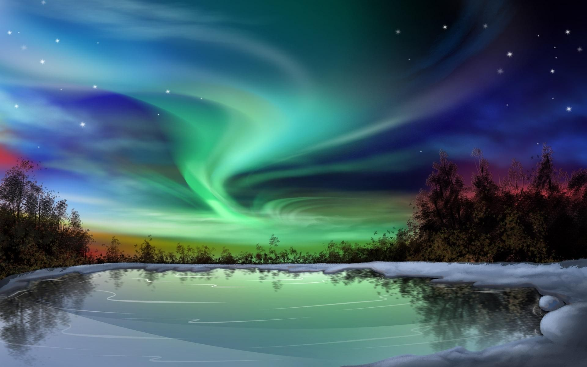 Northern Lights From Water This is hires image. Right
