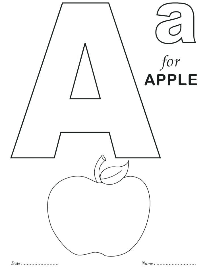 - Free Coloring Pages With Letters Letter Printable Coloring Pages Alphabet  Letters Printab… Preschool Coloring Pages, Apple Coloring Pages, Letter A Coloring  Pages