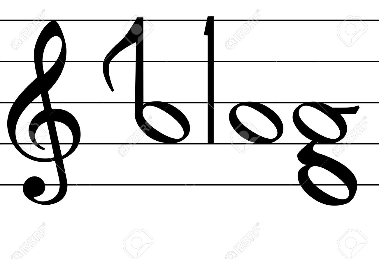 The word blog as notes on musical notation symbols for your music the word blog as notes on musical notation symbols for your music buycottarizona Image collections