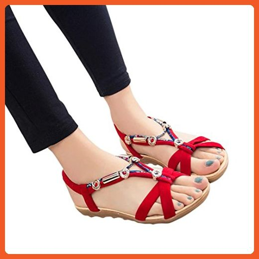 Elevin(TM)Women Spring Summer Open Toe Comfort Shoes Flat Platform Sandals Shoes
