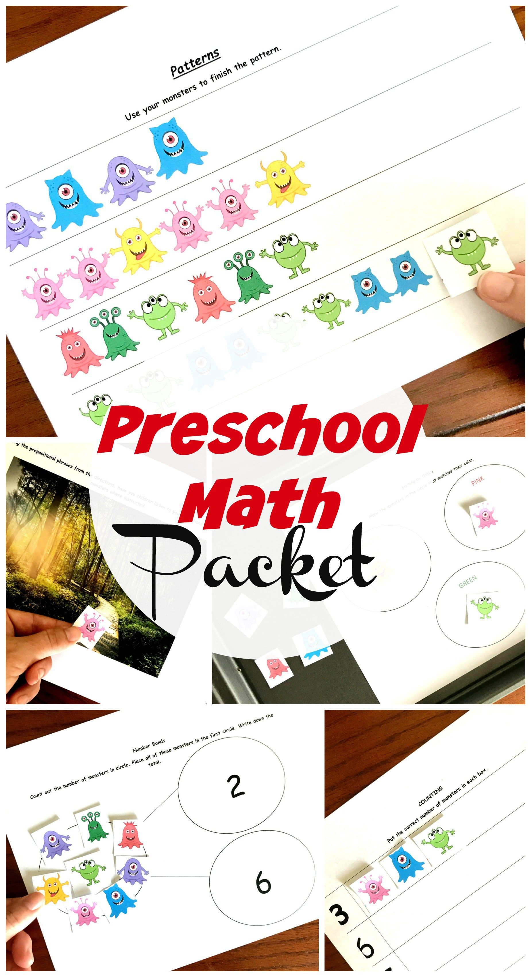 5 Preschool Math Worksheets To Practice Patterns Sorting