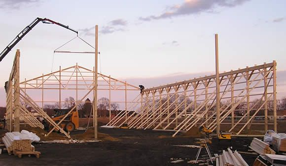 construction 100 x 65 pole barn