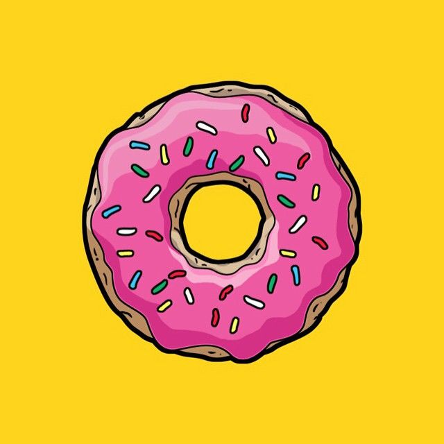 Mmm donut simpson homer cartoon Couple wallpaper