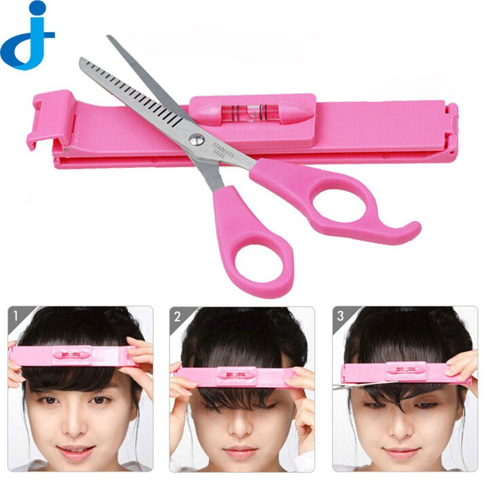 髪櫛で切断はさみマジックdiyヘアカッティングポータブル毛トリマー櫛ヘアカットデバイスコーム2FX2