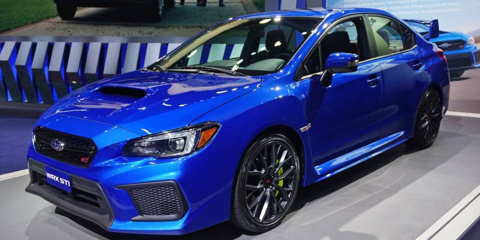 Refreshed 2018 Subaru WRX and STI debut in Detroit
