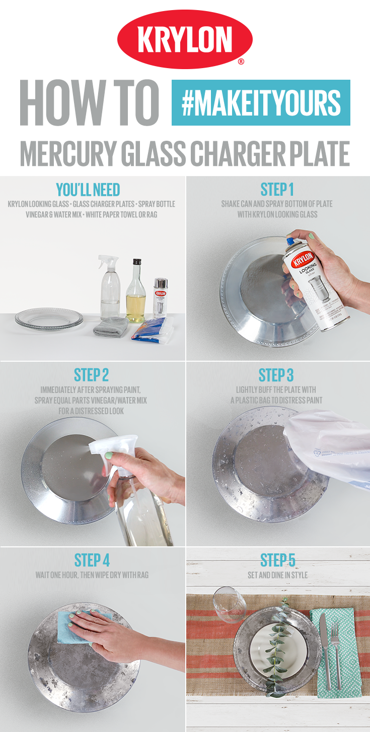 Bring Eye Catching Décor To The Table By Turning Your Charger Plates Into Reflective Pieces With Krylon Looking Gl This Project Is Simple All You Ll