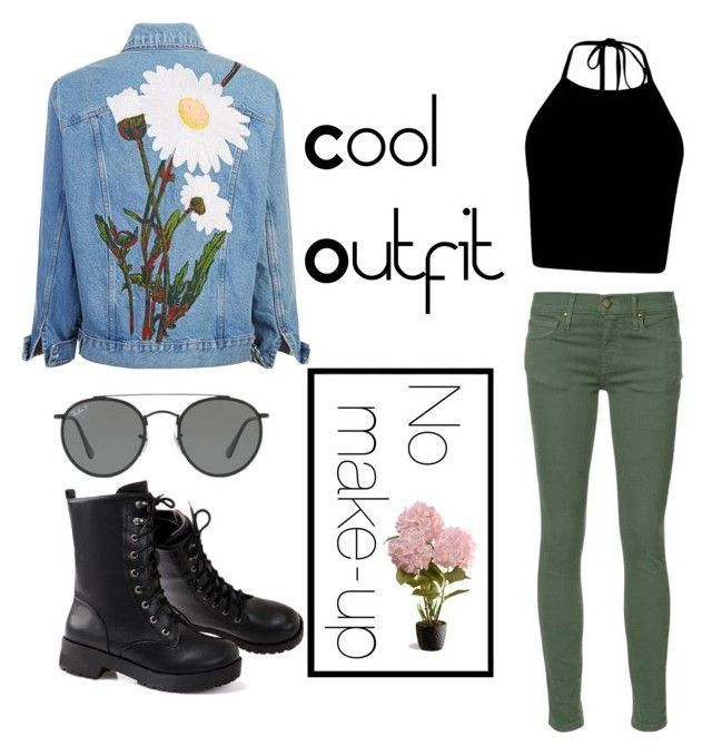 """""""Cool Outfit"""" by ayogi ❤ liked on Polyvore featuring The Great, Ray-Ban and National Tree Company"""
