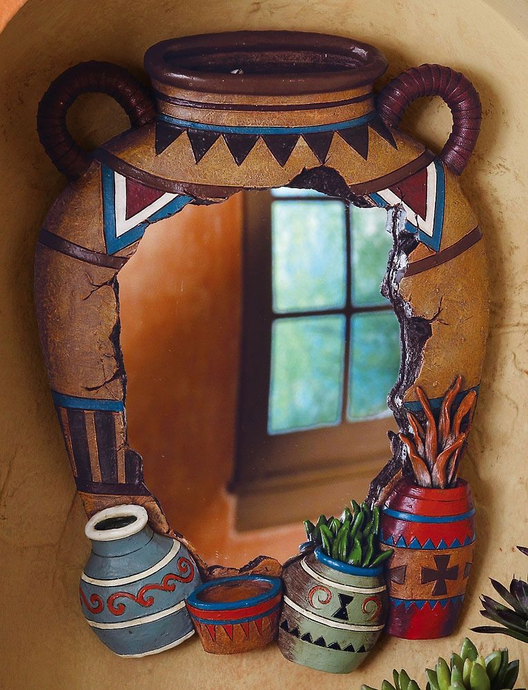 Southwestern Decorating Catalogs | Southwestern Pottery Decorative Wall  Mirror