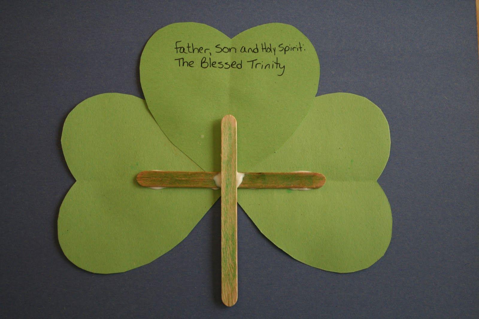 Blessed Trinity Shamrock Craft
