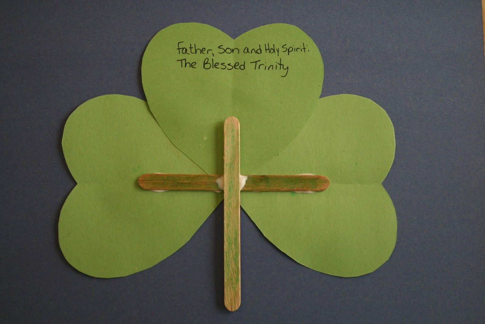 Blessed Trinity Shamrock Craft With Images St Patricks Day