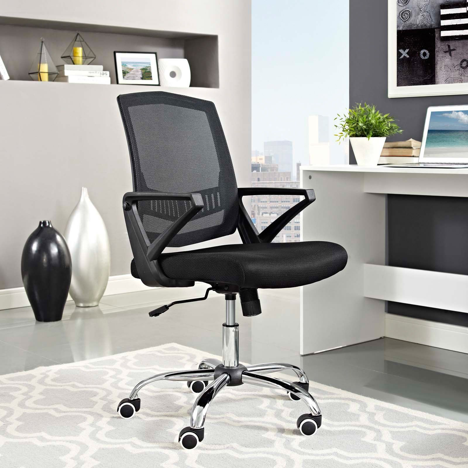 Modway Proceed Mid Back Upholstered Office Chair With Images