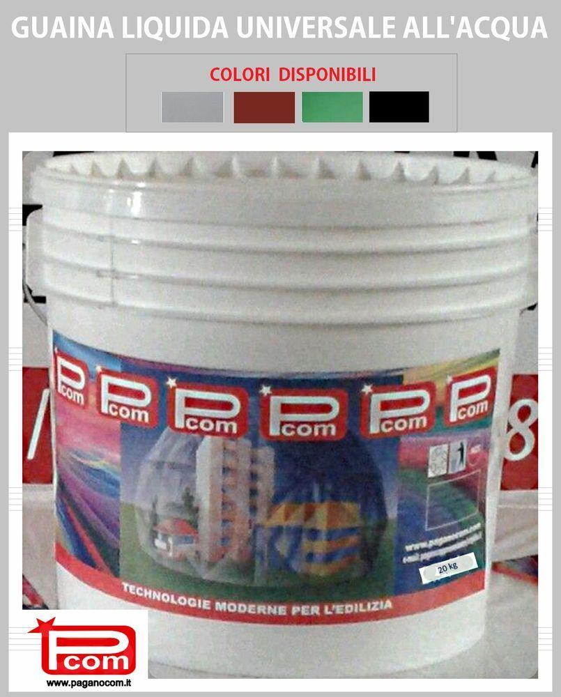 20kg Guaina Liquida Ecogum Impermeabilizzante Calpestabile