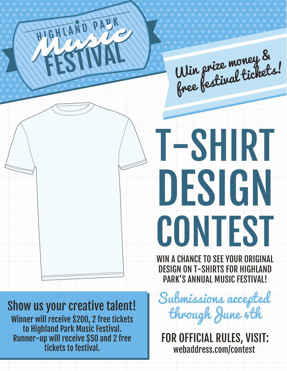 Contest Flyer Template Free New New T Shirt Contest Marketing Flier Templates With Wet T In 2021 Flyer Template Flyer Flyer Design Templates