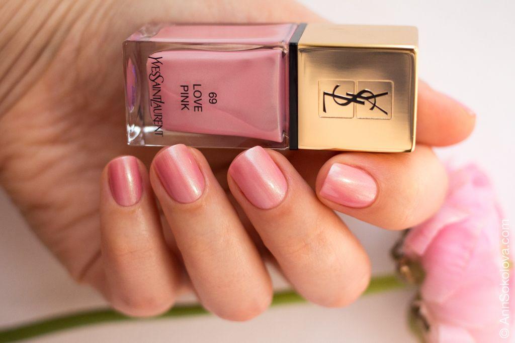 YSL #69 Love Pink | Nails | Pink nail polish, Boho green, Nail ...