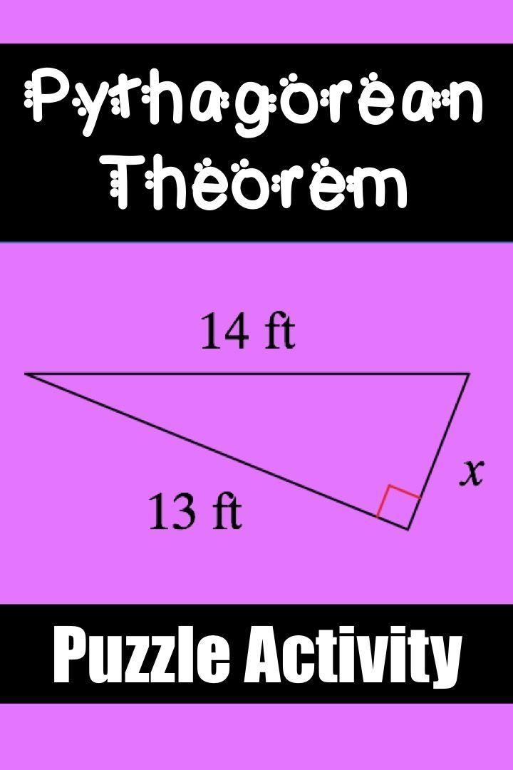 Pythagorean Theorem Puzzle Worksheet | Worksheets, Middle school ...