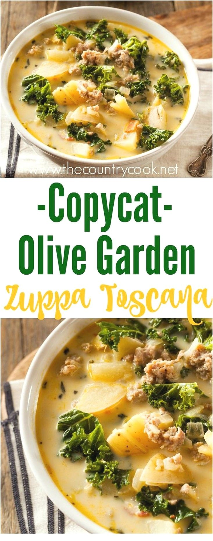 Soup Recipes Ideas | Copycat Olive Garden Zuppa Toscana images
