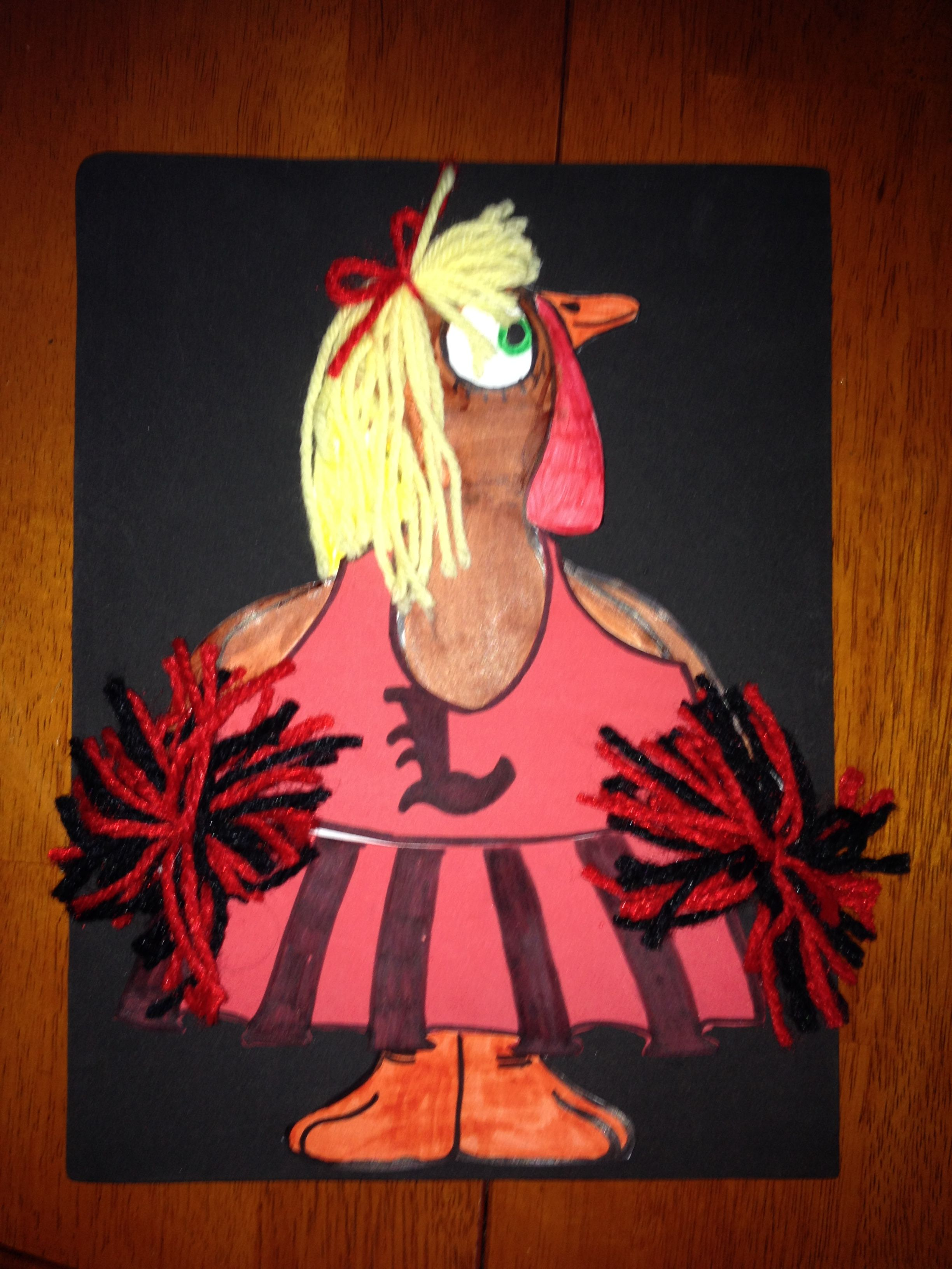 U of L cheerleader \'\'Disguise the Turkey\'\' art project | Disguise ...