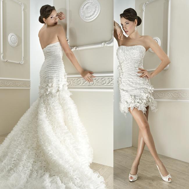 10 Brautkleider, 20 Looks: Die schönsten 2-in-1 Brautkleider 2013 ...