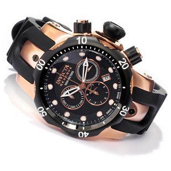 Invicta Reserve Mid-Size Venom Swiss Made Quartz Chronograph Polyurethane Strap Watch